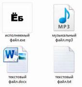 Формат файлов