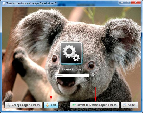 поменять экран приветствия через tweaks logon