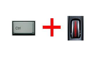 изменение размера значков ctrl + колесо мыши
