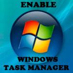 включить диспетчер задач на Windows 7