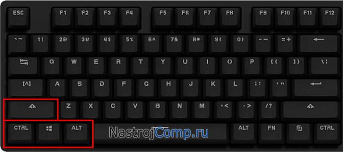 клавиши-модификаторы на клавиатуре